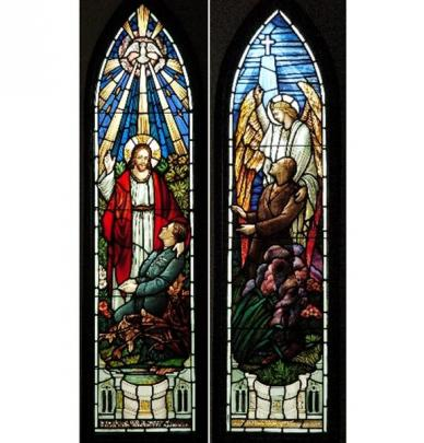 Stained-glass images in St Peter's Church, Caversham are a moving reminder of the tragic...