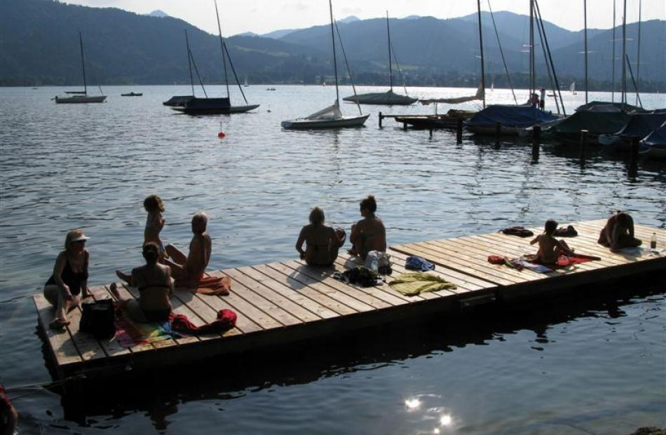 The water in Tegernsee lake is crisp and refreshing. Photo by Jeff Kavanagh.