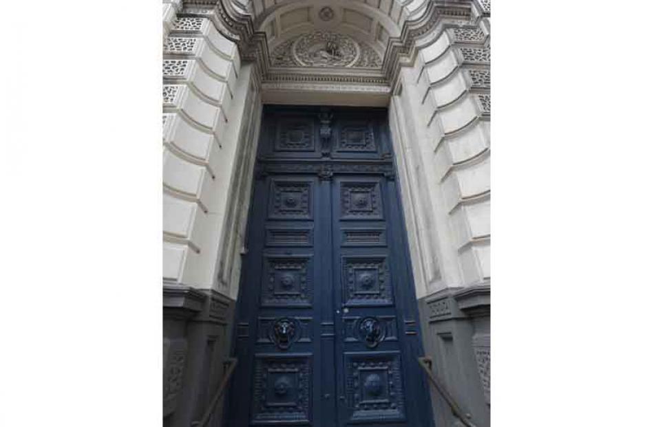BNZ's sturdy front door.