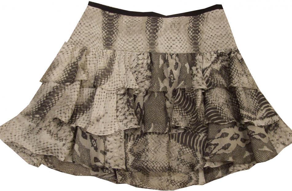 Snake Ruffle skirt at Witchery ($149).