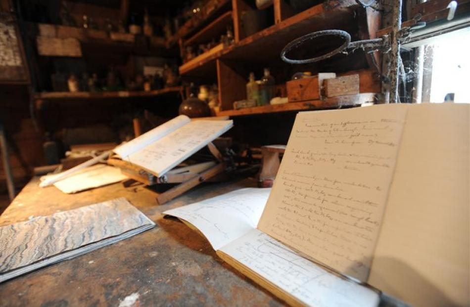 Alfred Bell's writings can still be found in the laboratory on Shag Valley Station known as the...