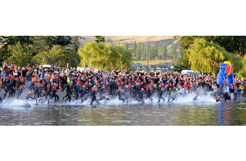 A large crowd of spectators and supporters gathered on the shore of Lake Wanaka on Saturday...