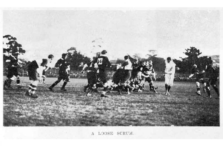 1908: First test at Carisbrook, New Zealand v British Isles.