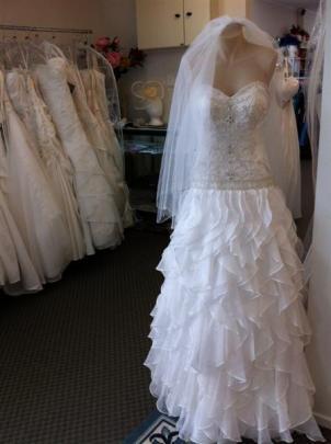 Bridal gown at House of Kavina, Caversham, Dunedin