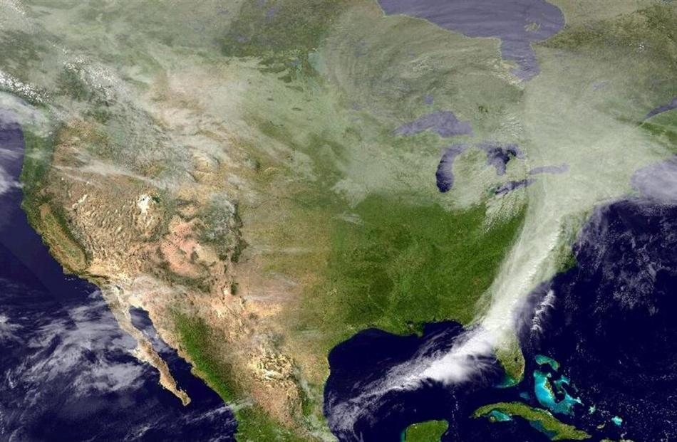 The United States is seen in a composite image taken from the NOAA GOES satellite. REUTERS/NOAA