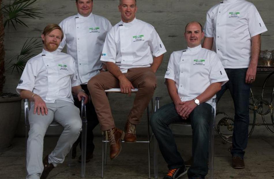 2014 Beef and Lamb New Zealand ambassadors (from left) Mikey Newlands, Scott Kennedy, Darren...