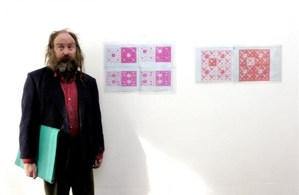 Martin Thompson in the Brett McDowell Gallery.  Photo by Jane Dawber.
