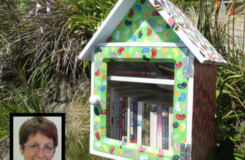 A popular Lilliput Library on Merchiston St in Anderson's Bay. Inset: Ruth Arnison