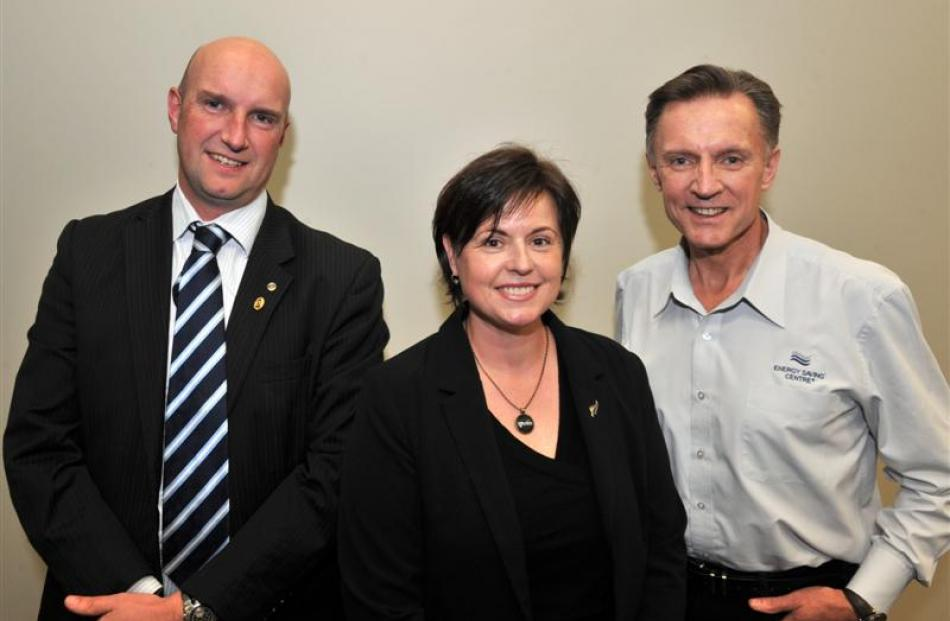(from left) Westpac area business manager Phil Moore, Otago Chamber of Commerce president Ali...
