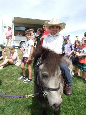 Kelvin Copland (5), of Ranfurly, on Flair, took on a cowboy theme for the Maniototo A&P Show pet...
