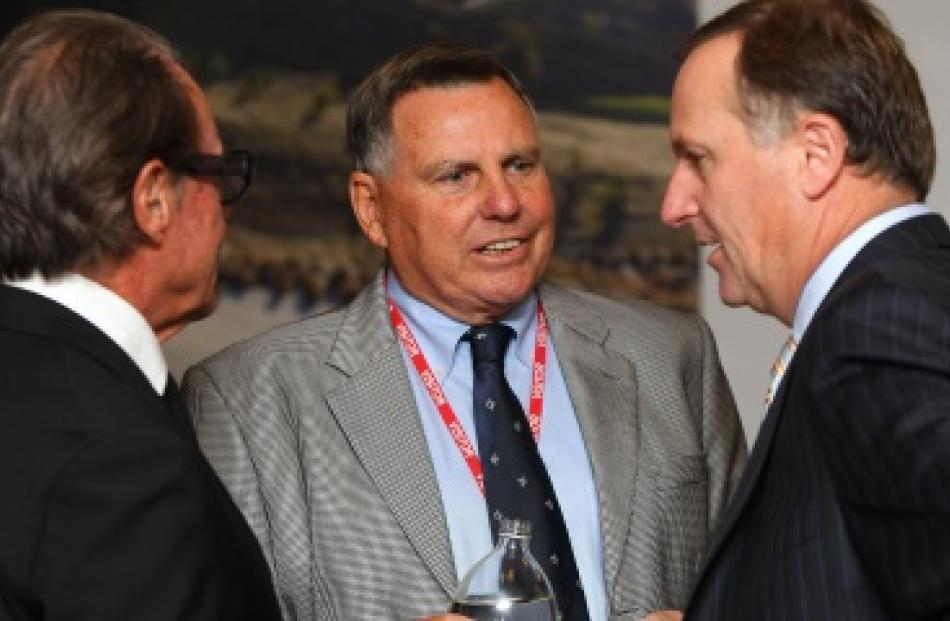 (L to R) Sir Michael Hill, John Hart and Prime Minisher John Key at the NZPGA Pro Am Championship...