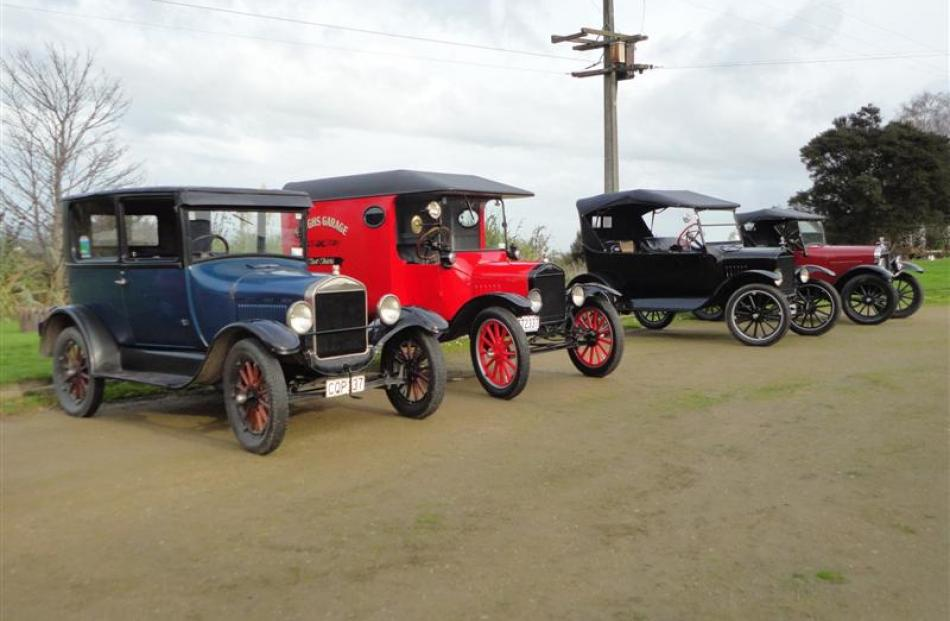 Model T Fords  at the Outram historical park. Photos by Donna Millar.