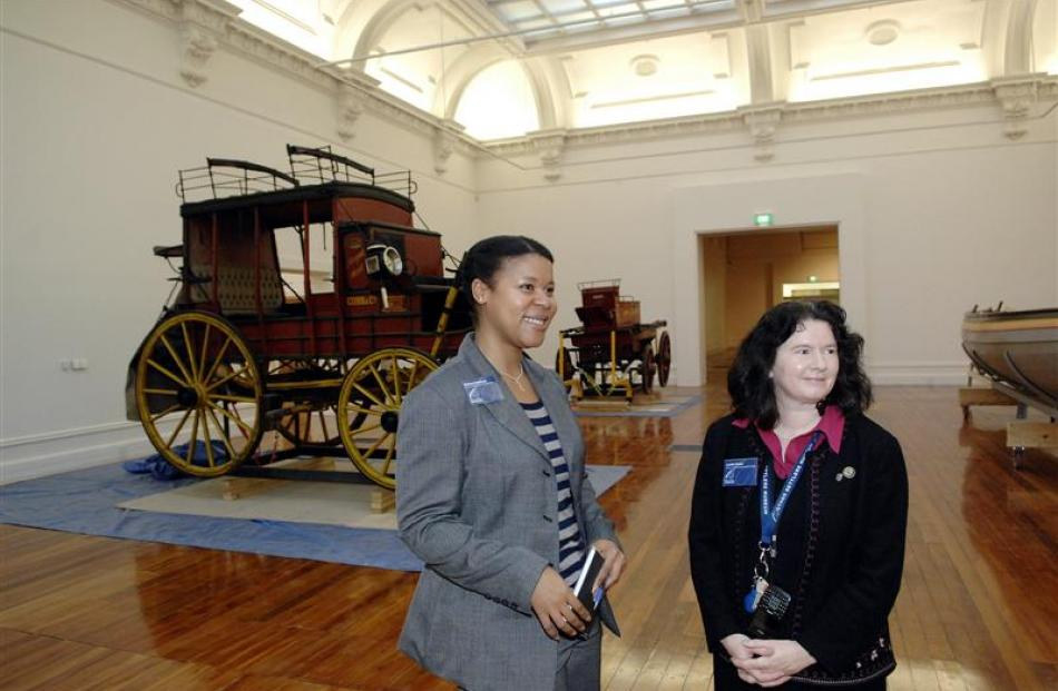 Otago Settlers Museum communication and business team leader Rebecca Crawford (left) and...