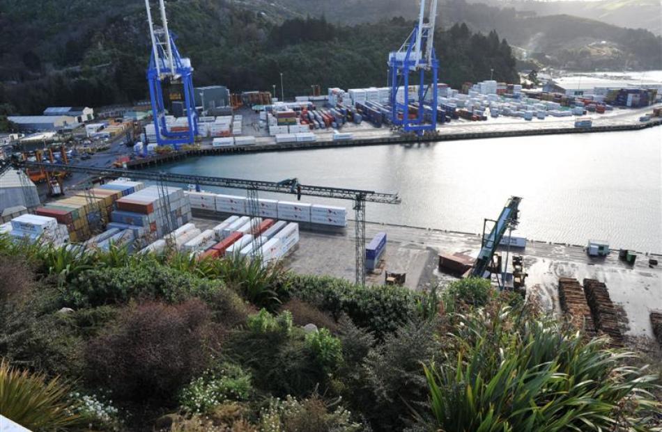 Port Otago makes gain on Lyttelton Port of  Christchurch shares. Photo by Craig Baxter.