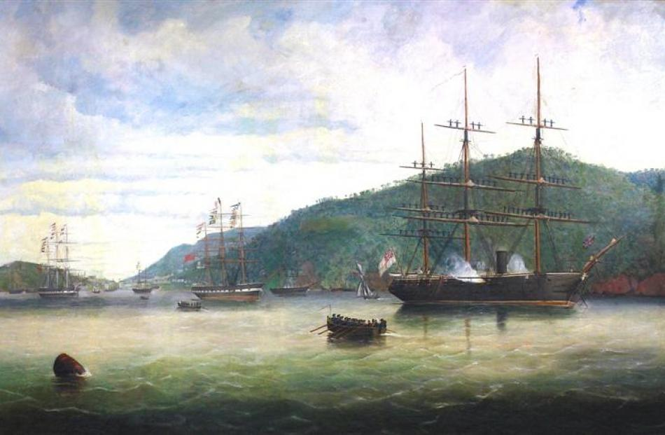 """""""Sir George Grey the Governor of New Zealand arrived here today he is visiting all the ports...."""