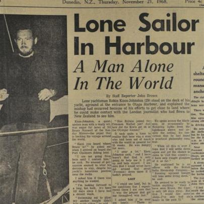 Sir Robin Knox-Johnston, the first man to circumnavigate the globe alone, also took refuge near...