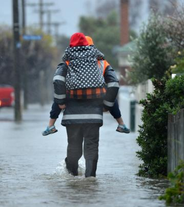 South Dunedin flooding in June. Photos by ODT.