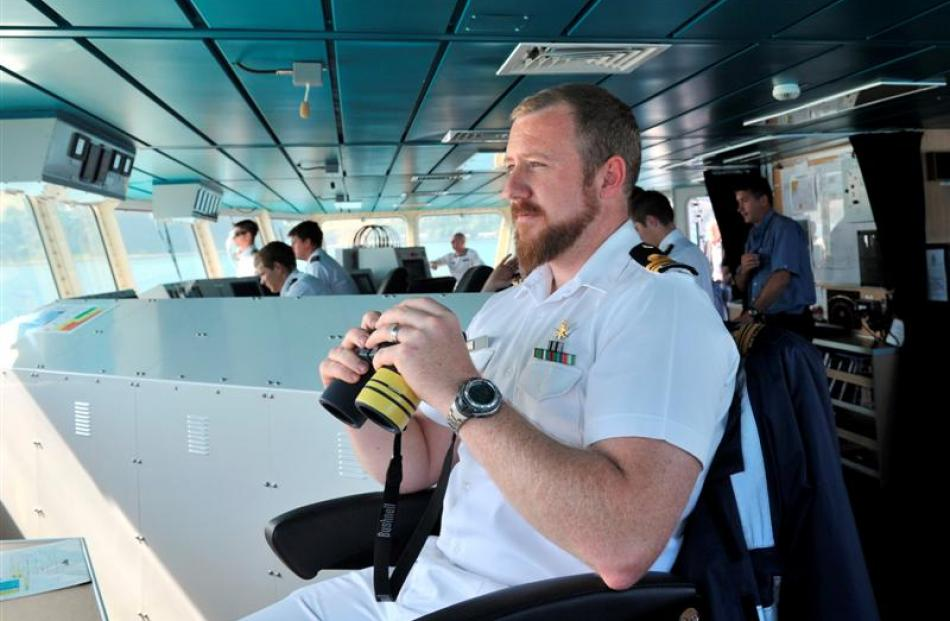 The captain of HMNZS Otago,  Lieutenant-commander Rob McCaw, says the offshore patrol vessel is...