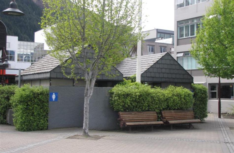 The existing public toilets at Earnslaw Park, in Queenstown, which will be replaced by next...