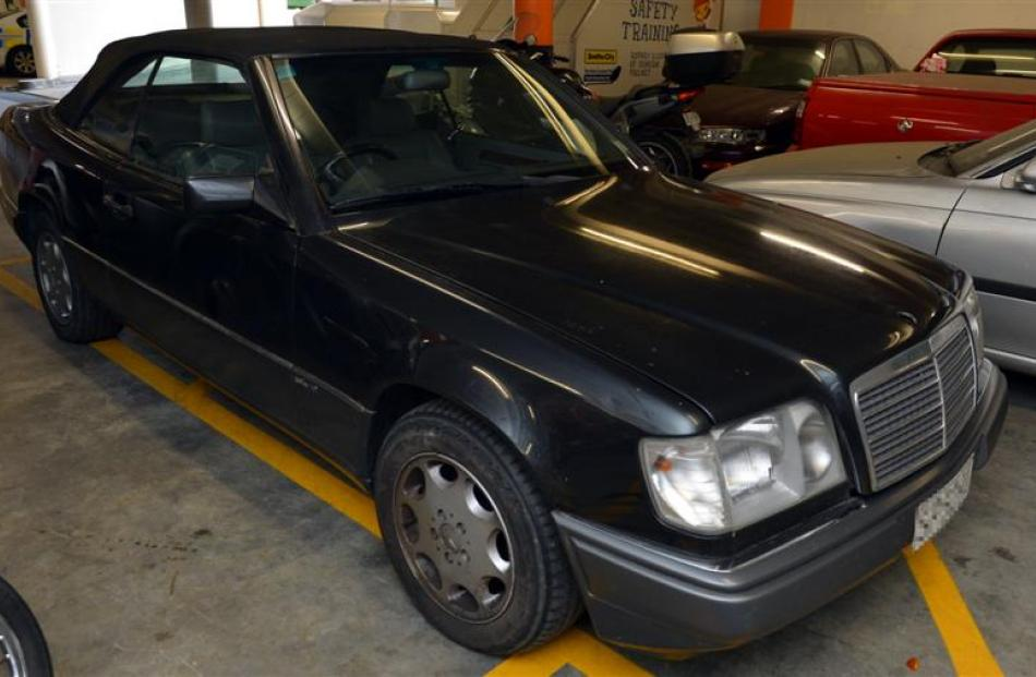 A 1993 Mercedes E320 Cabriolet connected to  fraudster Michael Swann was recovered this week....