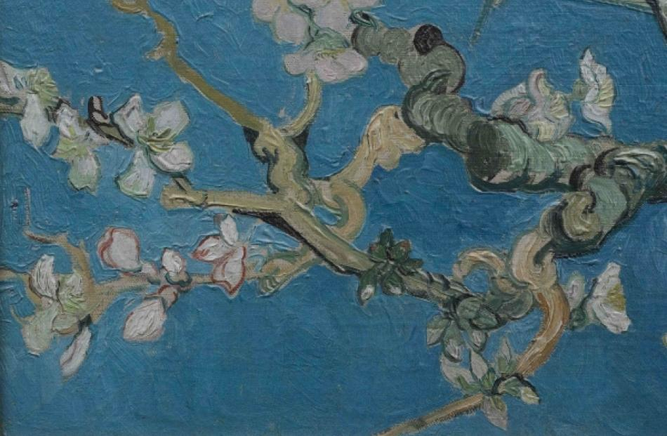 "A detail of the Vincent Van Gogh painting ""Almond blossom"" (1890) is seen in this..."