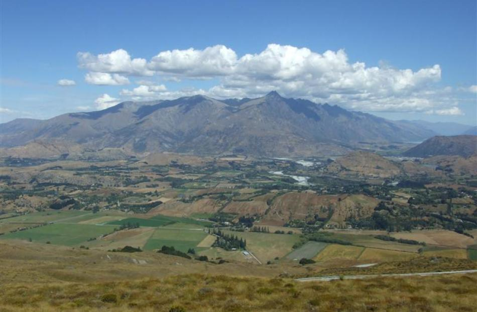 A dry Wakatipu as seen from Coronet Peak last week. Photo by Christina McDonald.