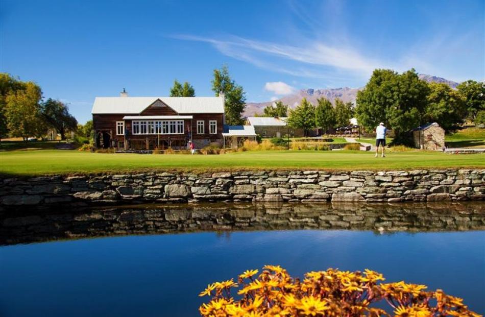 A golfer at Millbrook Resort's Arrow Nine ninth hole.  Millbrook Resort was one of three...