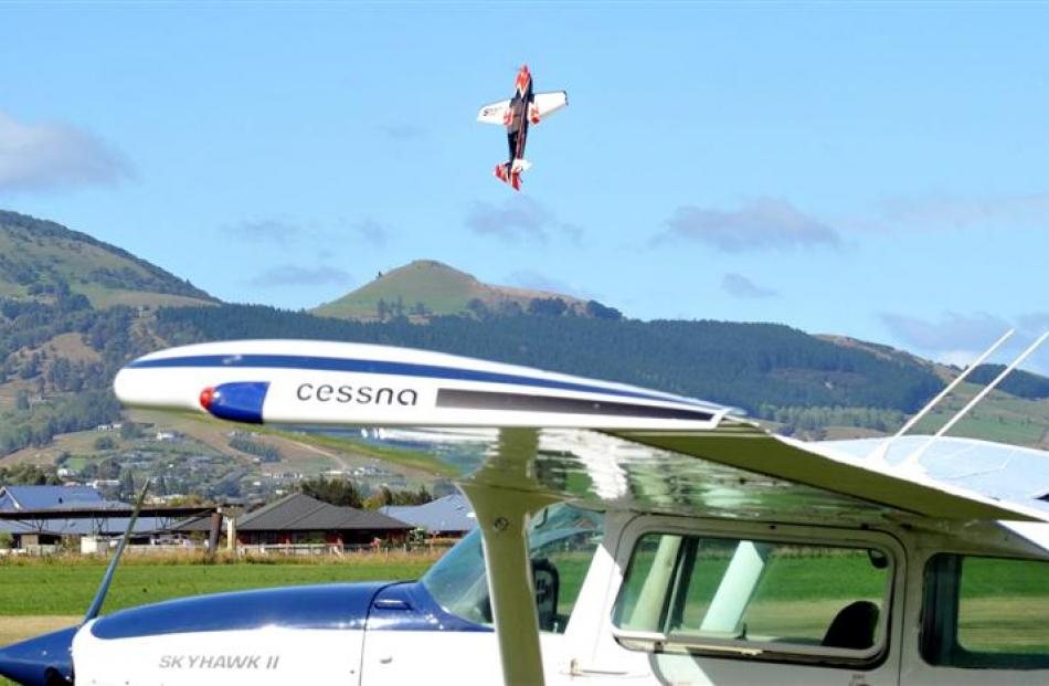 A model aircraft entertains the crowd. Photos by Gregor Richardson.