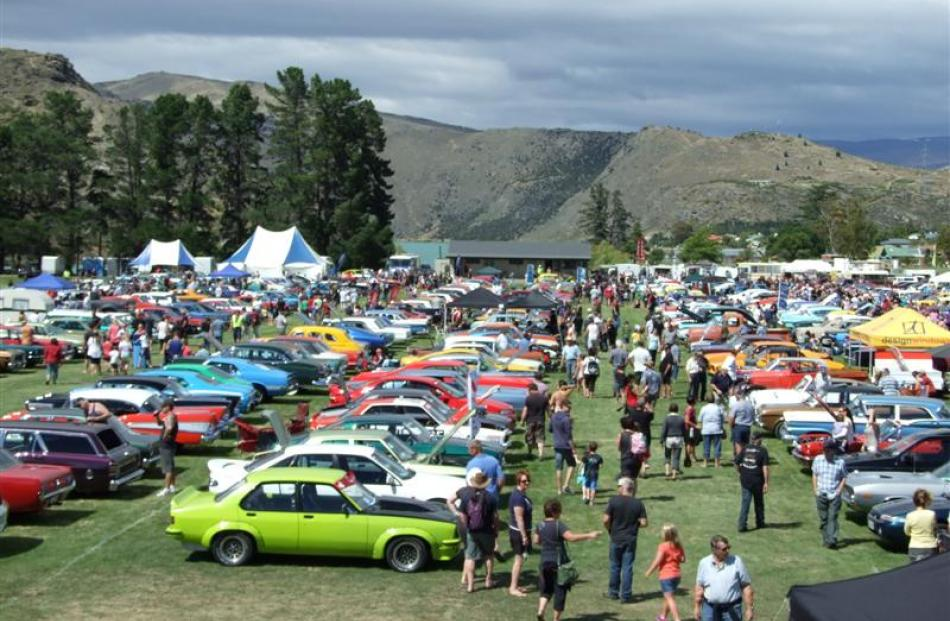 A record number of more than 740 vehicles were displayed in the Cromwell Classic Car and Hot Rod...