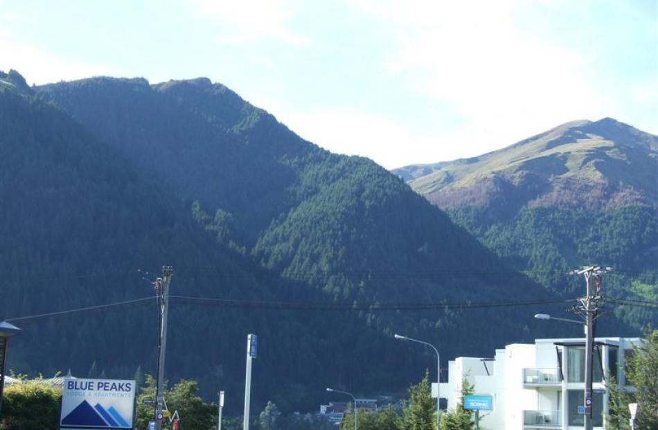 A section of Ben Lomond, a peak that borders on Queenstown central. The Department of...