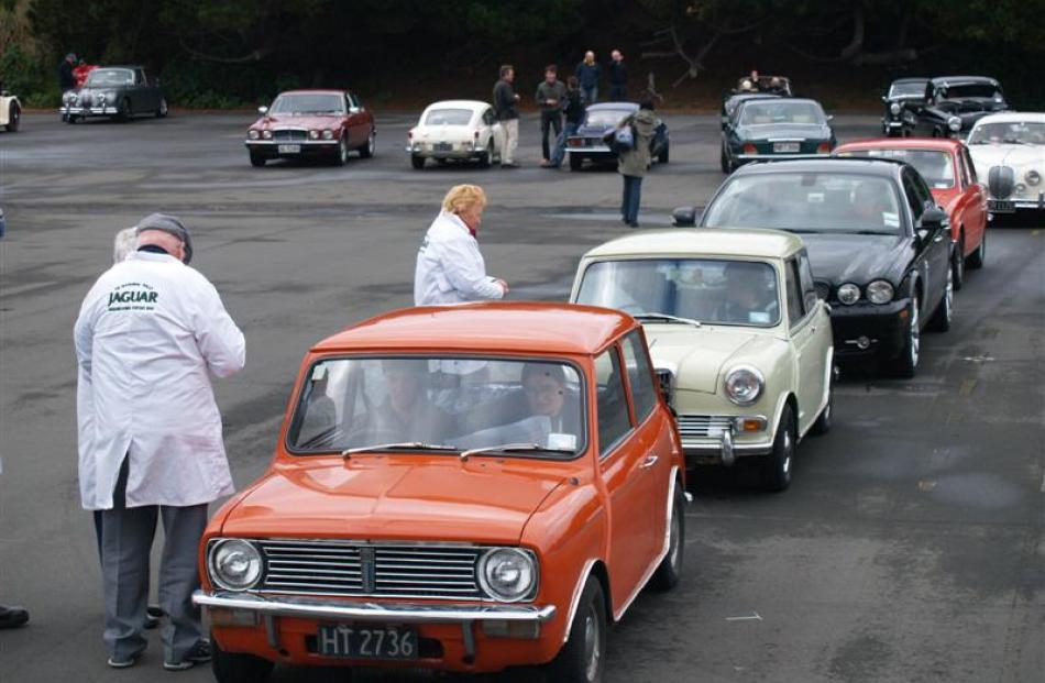 A variety of interesting British  cars lines up during the 2012 Best of British Charity Motoring...