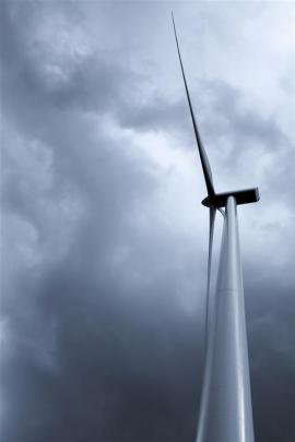 A wind turbine. Photo supplied.