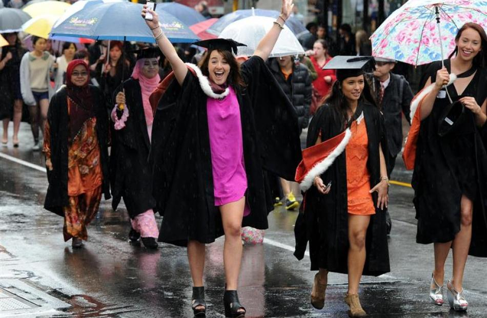 Abi Tubbs was one of the graduands in last Saturday's University of Otago graduation parade....