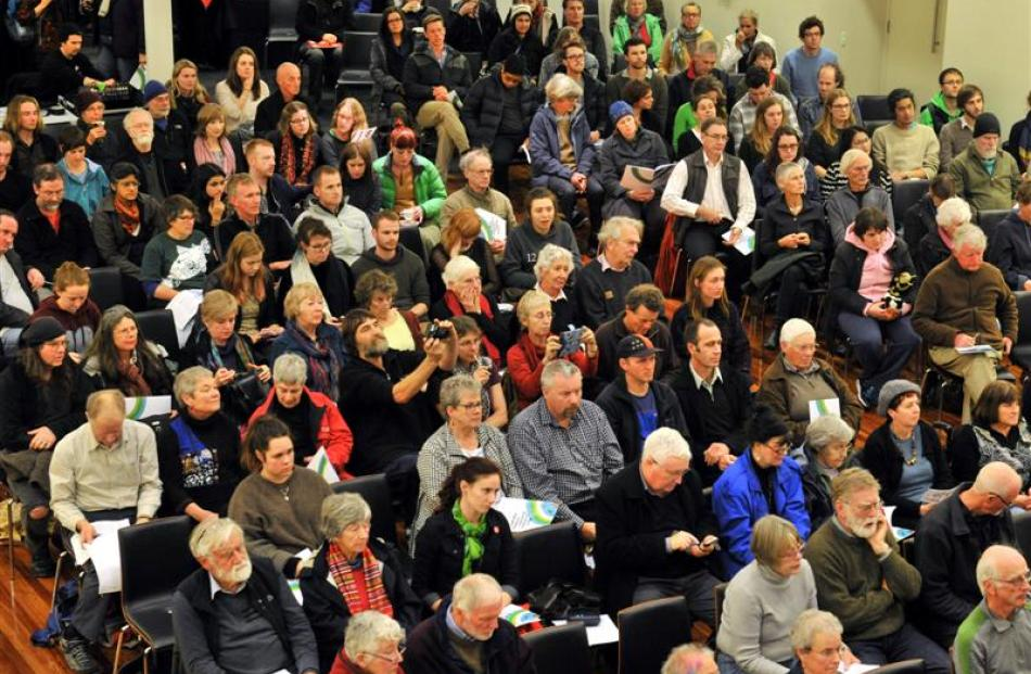 About 300 people attended  a consultation on New Zealand's targets for climate change reform in...