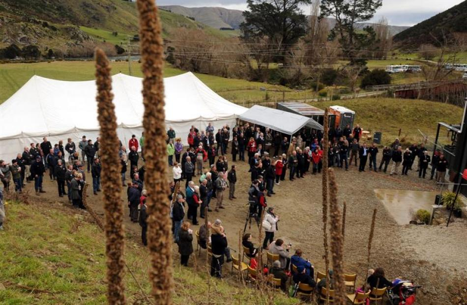 About 300 people were invited to the opening of the Talla Burn power station, marking the...