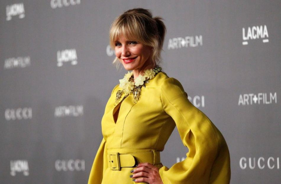 Actress Cameron Diaz poses at the Los Angeles County Museum of Art 2012 Art + Film Gala in Los...