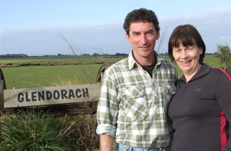 Adrian and Anne Lawson at home on their Waituna farm, near Invercargill. Photo by Sally Rae.