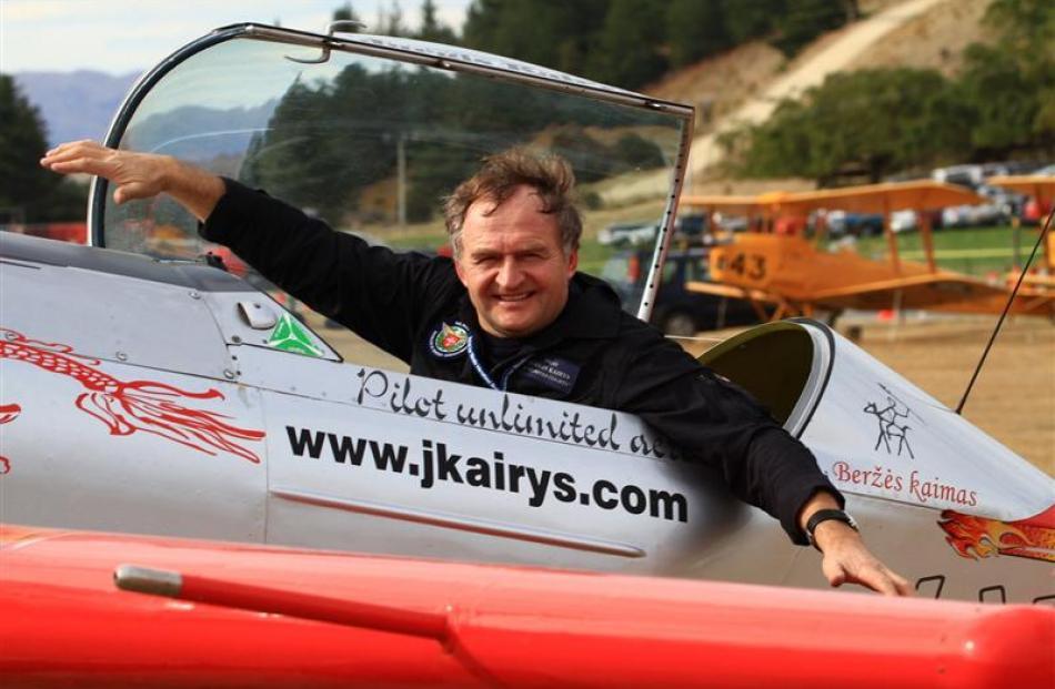 Aerobatic champion Jurgis Kairys. Photos by ODT.