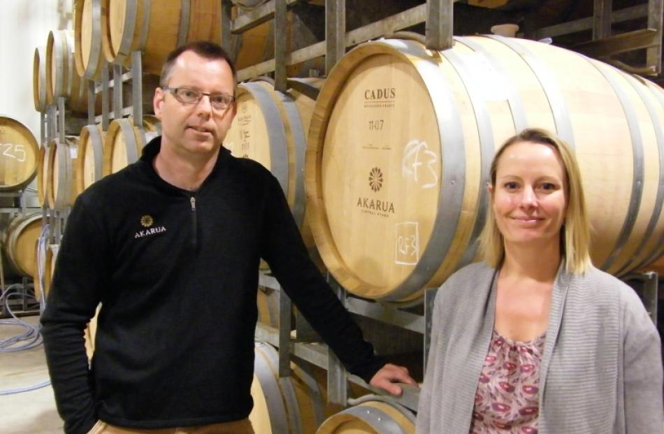 Akarua Winery Winemaker Matt Connell was thrilled with the  three gold medals the winery won in...