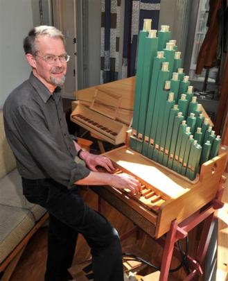Alan Edwards plays the early-music organ he built himself.