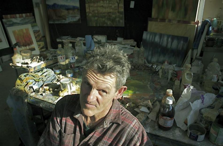 Alexandra artist Nigel Wilson in his studio. Photo by Shane Gilchrist.