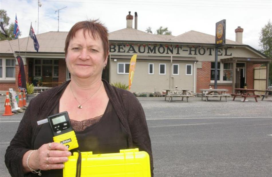 Alison Mills at the Beaumont Hotel has breath-tested 52 