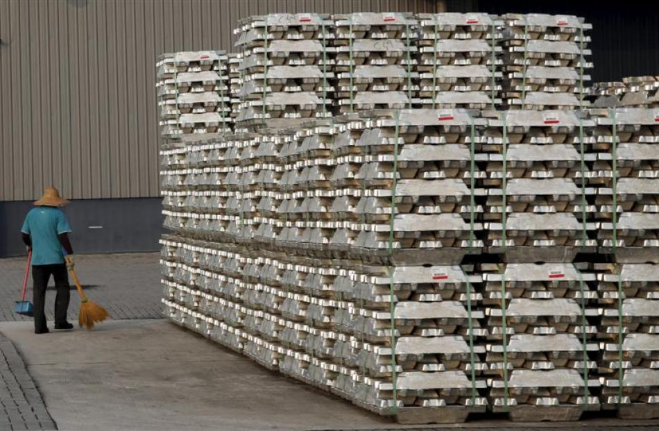 Aluminum and electricity prices are crucial to Tiwai Point's future. Pictured are aluminium...
