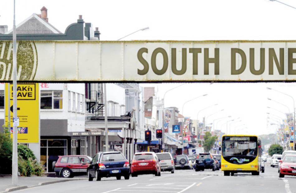 Among proposals to rebrand South Dunedin is to use the railway bridge on King Edward St. The logo...