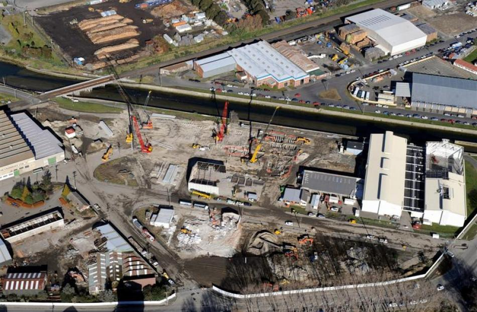 An aerial view of the construction. Photo by Stephen Jaquiery.