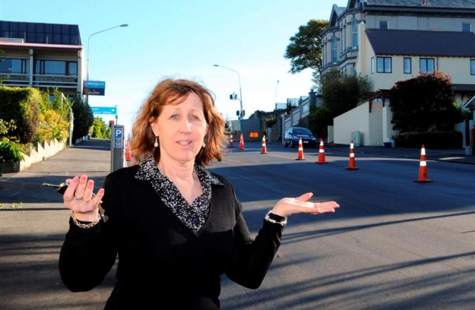 An angry Jill Dalwood returned yesterday to where she had parked her car on Wednesday in Smith St...