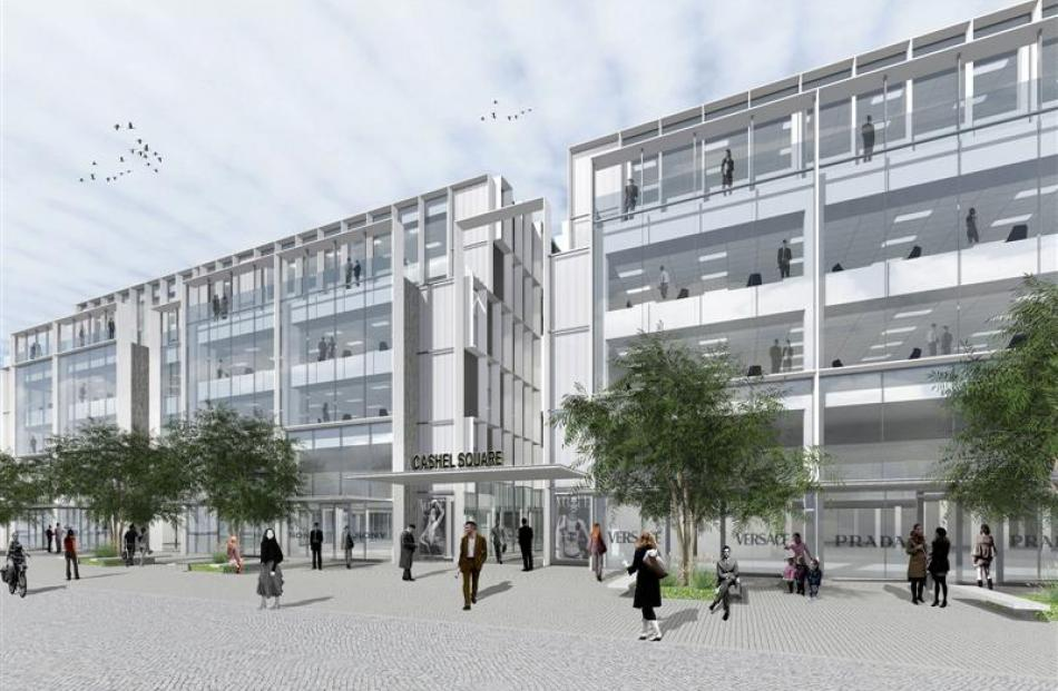 An artist's impression of Cashel Square, set to be the heart of Christchurch's  new central...