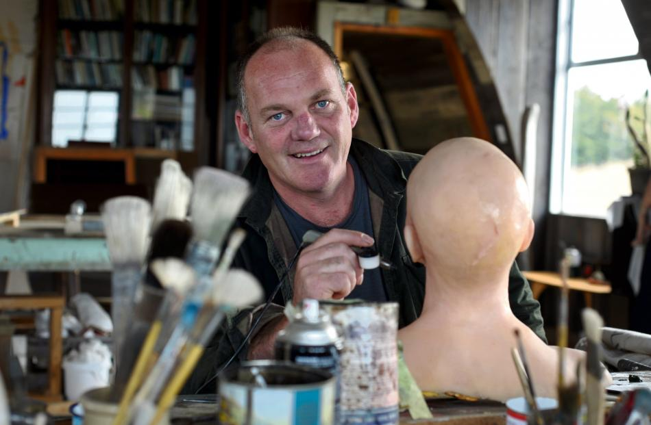 Andy King works on a mannequin's head at his Dunedin workshop. Photos by Christine O'Connor