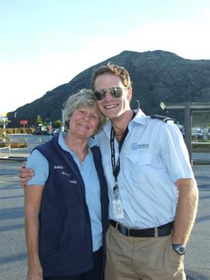 Antony Sproull receives a hug from mum Kerrie after his  10-day Cessna flight  from Athens to...