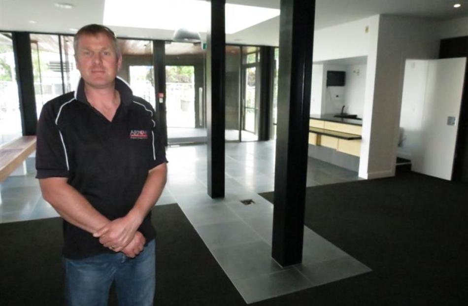 Arrow International construction manager Bruce Halligan, of Queenstown, stands in the refurbished...